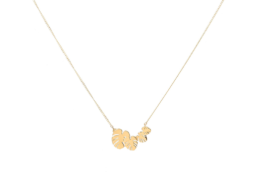 Four Dainty Leaves Necklace