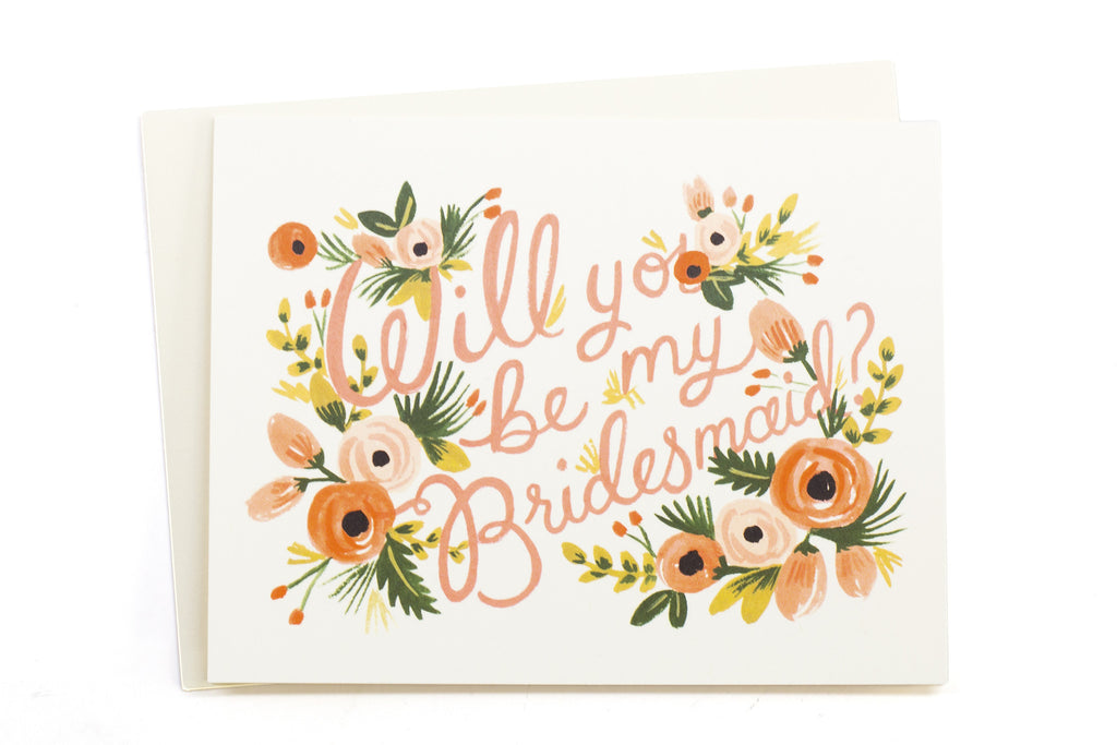 Floral Bridesmaid Card