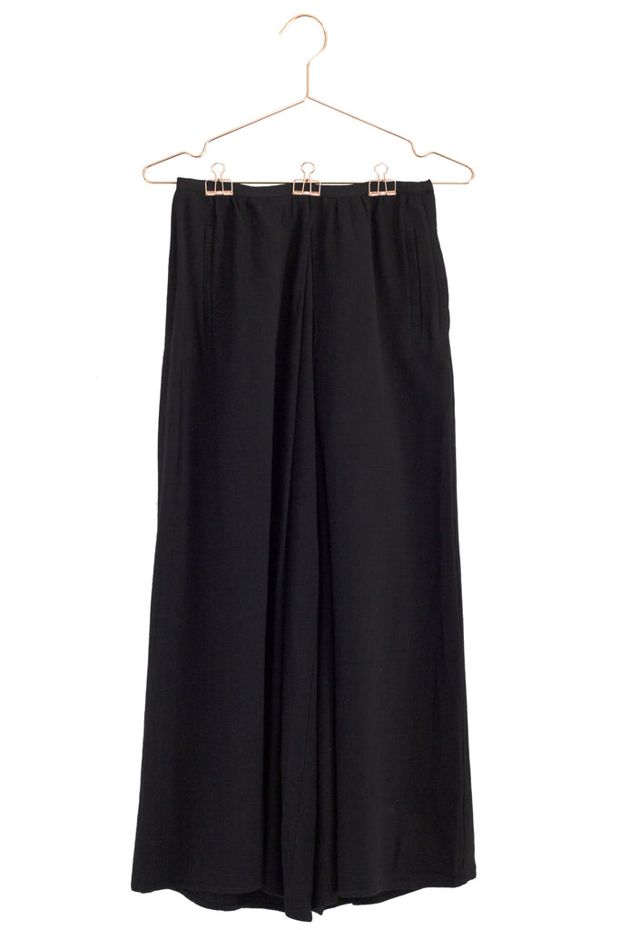 Drapey Linen Wide Leg Pants