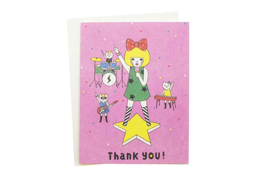 Band of Cats Thank You Card
