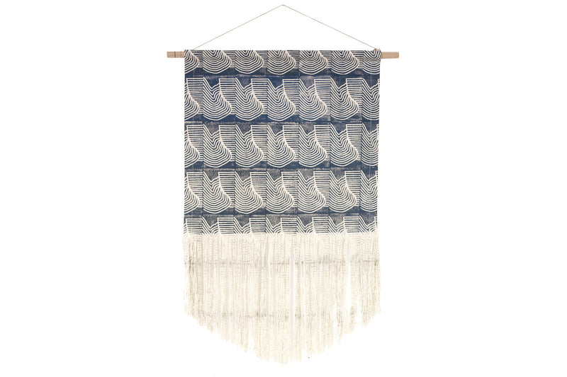 Flood Block Print Wall Hanging