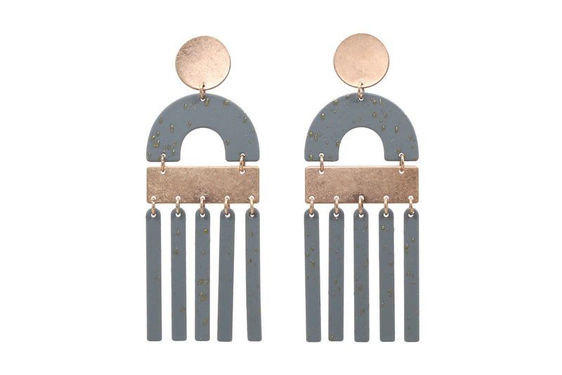 Geo Fringe Earrings