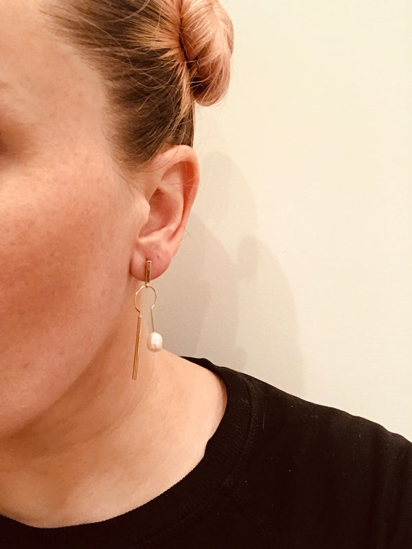 Calibrine Pearl Drop Earrings