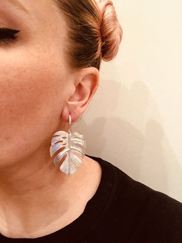 Grand Monstera Earrings