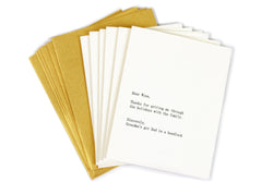 Dear Wine Card Set of 6