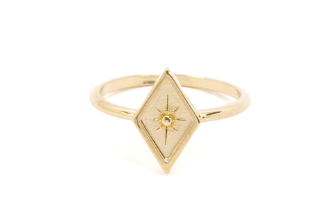 Palmistry Star Ring