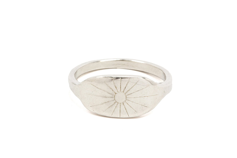Sunburst Signet Ring