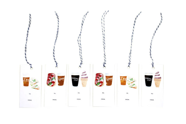 Beer and Food Gift Tags