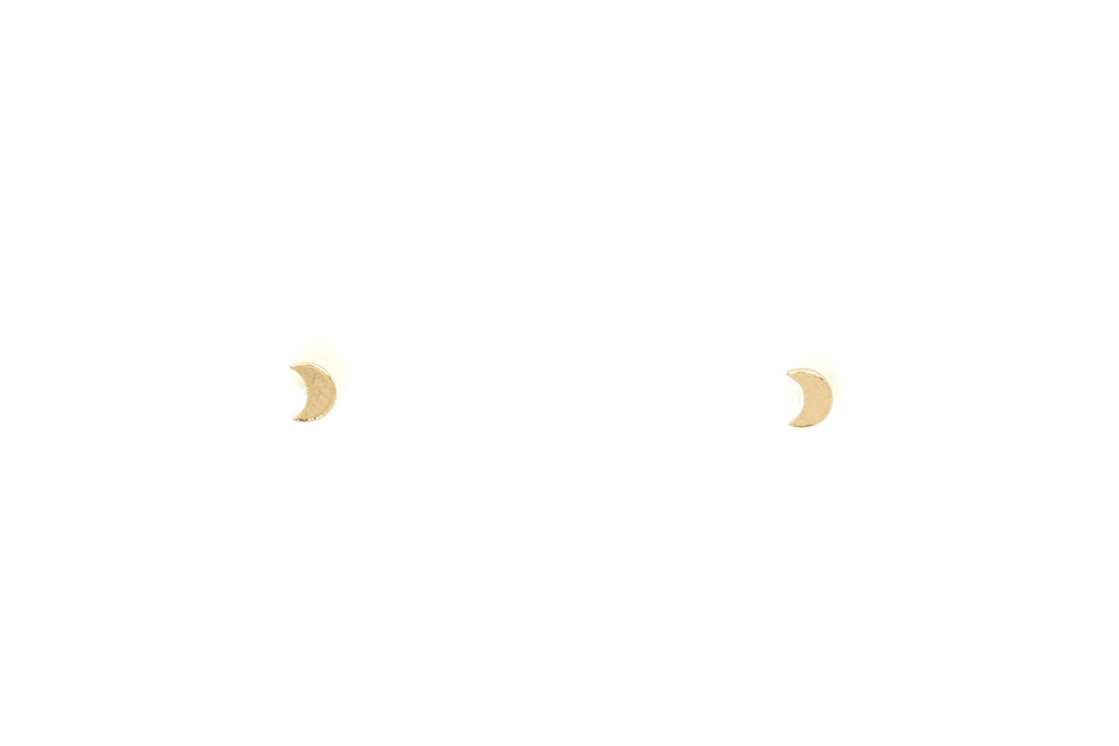 Mini Crescent Moon Studs