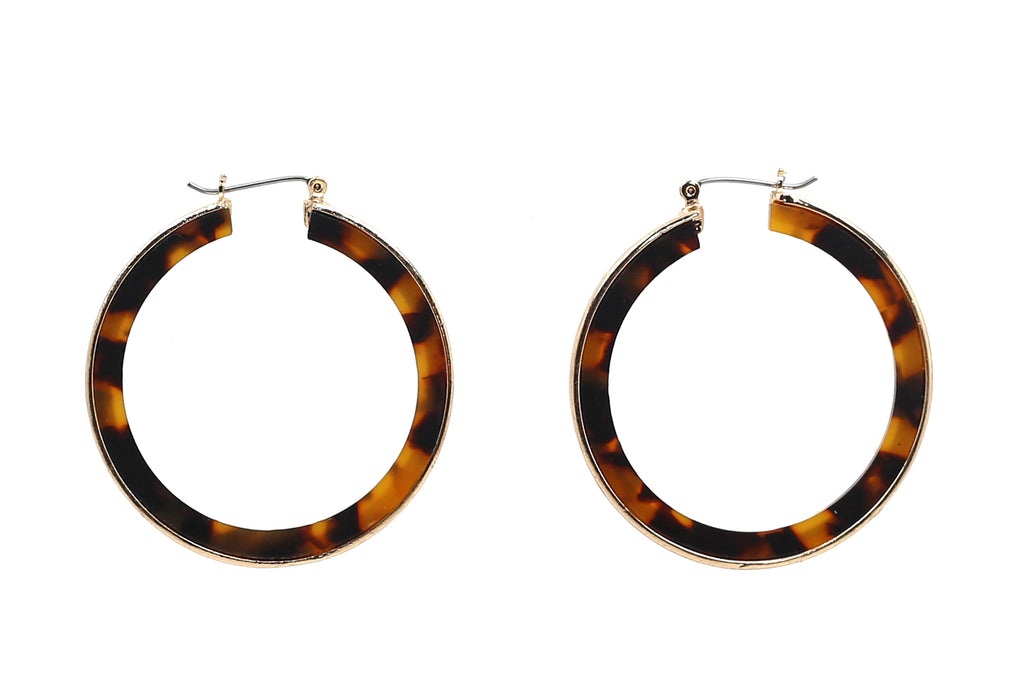 Metal Rim Hoop Earrings