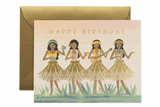 Hula Birthday Card