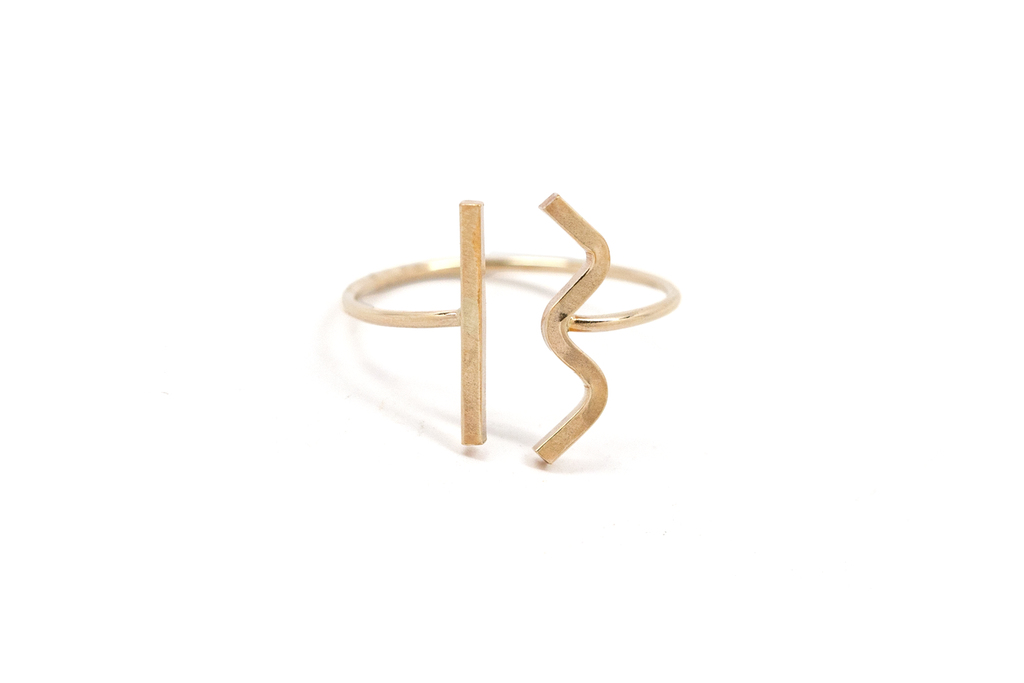 Line + Wave Ring