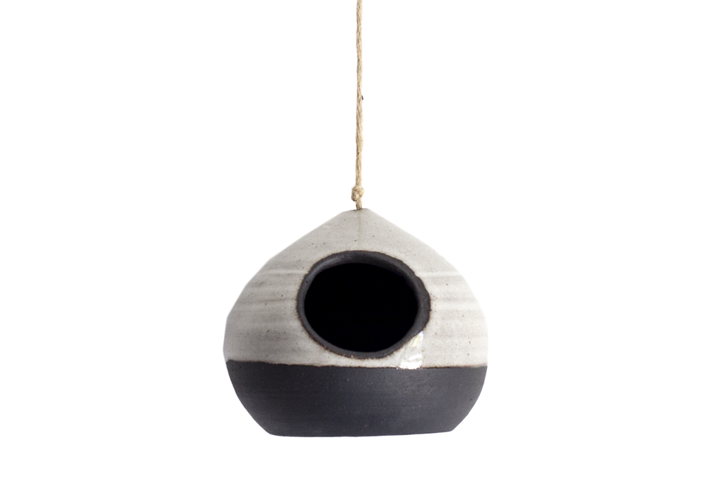Modern Hanging Planter + Bird House