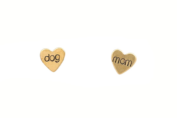 Dog Mom Hearts Earrings
