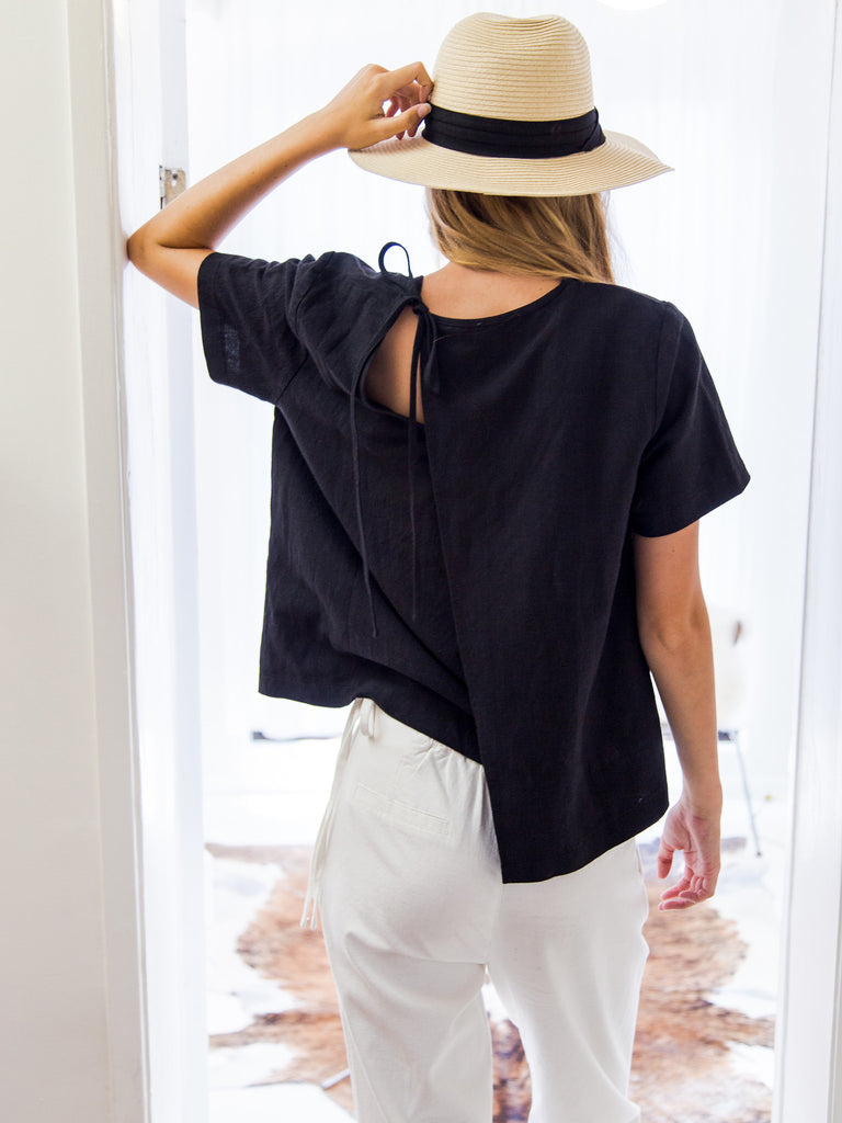 Sliced Tie-Back Top