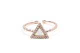 Triangle Pave Crown Ring