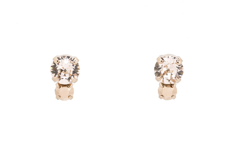 Two Tone Swarovski Crystal Studs