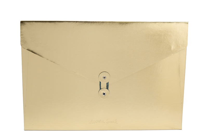 Metallic Leather Folio