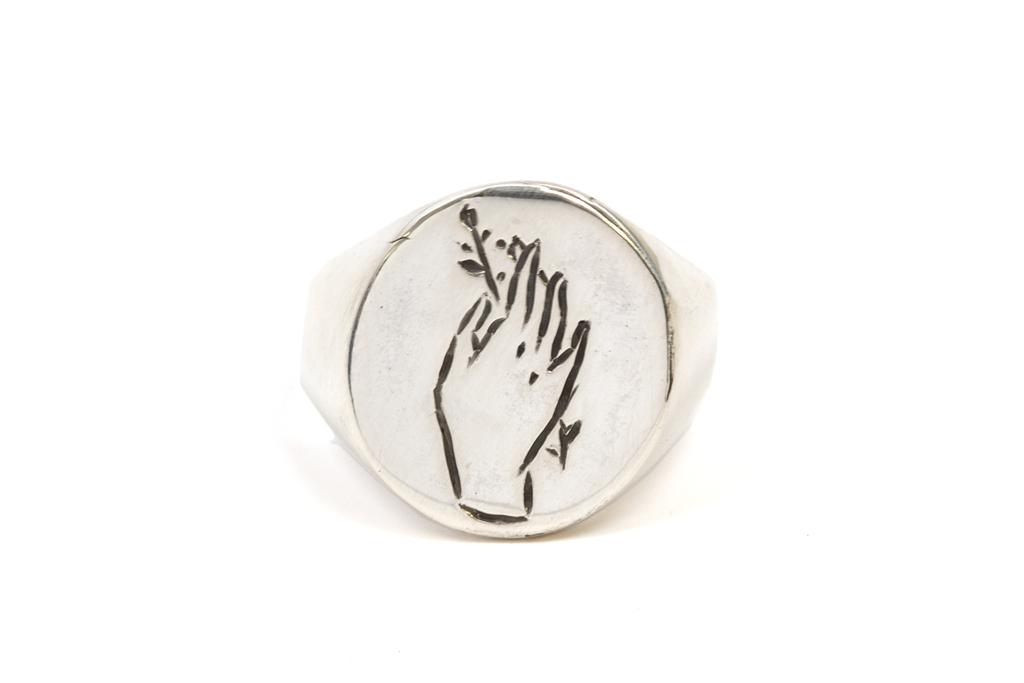 Hand Offerings Signet Ring