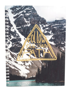 Follow Your Own Path Notebook