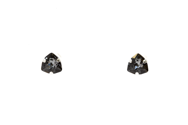 Tiny Triangle Swarovski Studs