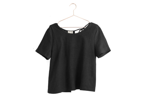 V Neck Short Sleeve Top