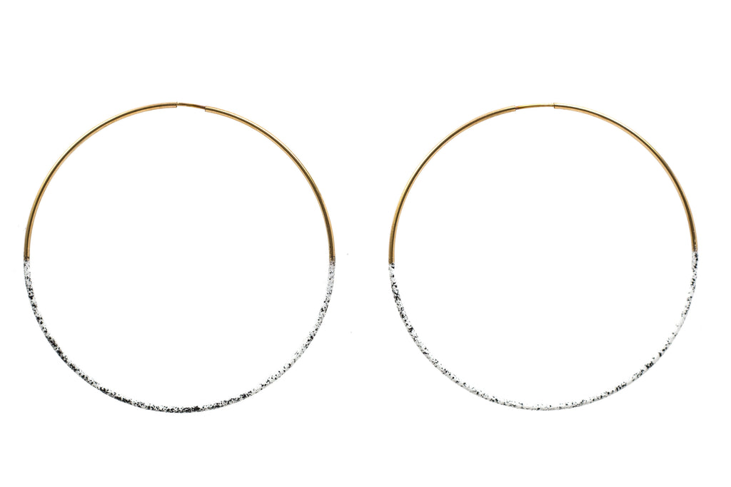 Speckled Dipped Hoops