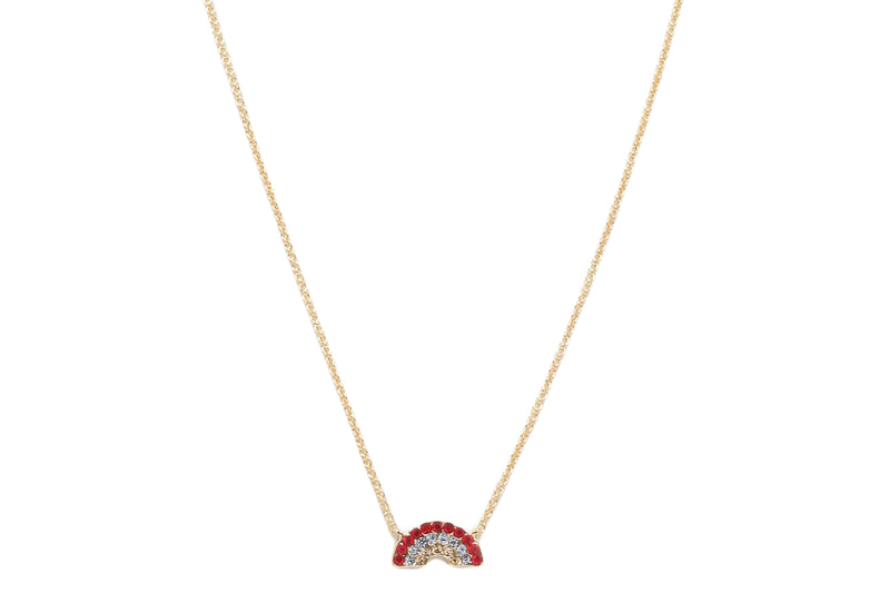 Pave Rainbow Pendant Necklace