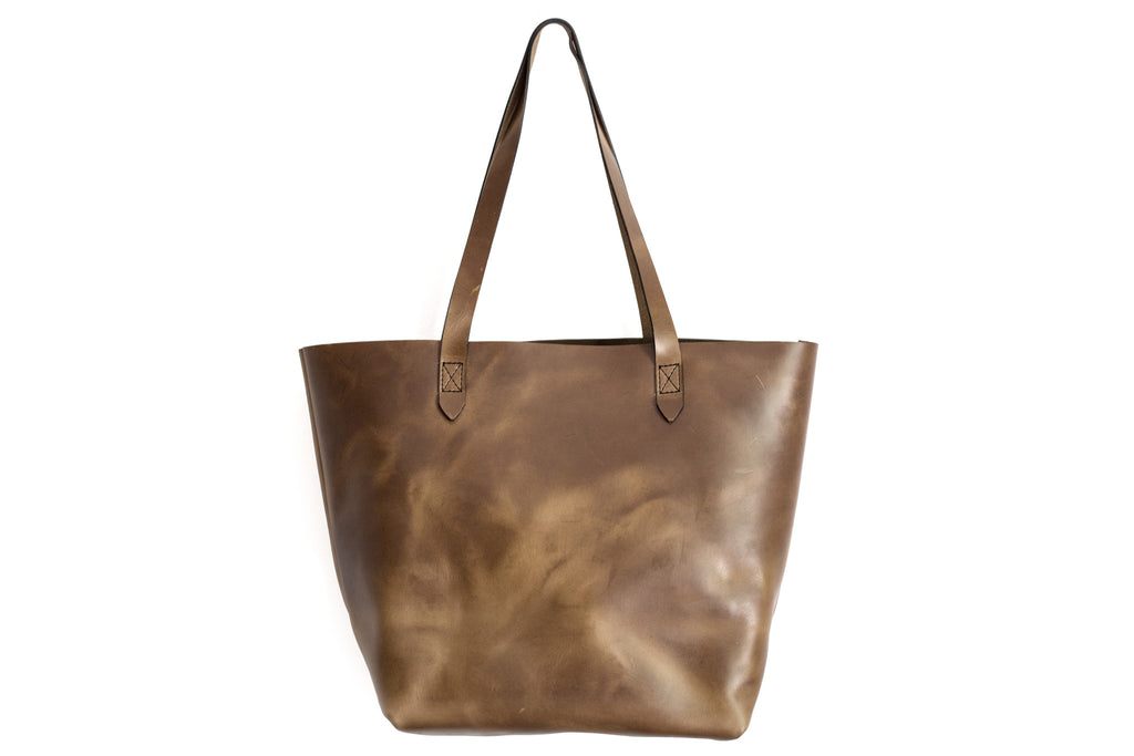 Camel Luxe 2.0 Leather Tote