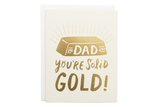 Solid Gold Dad Card