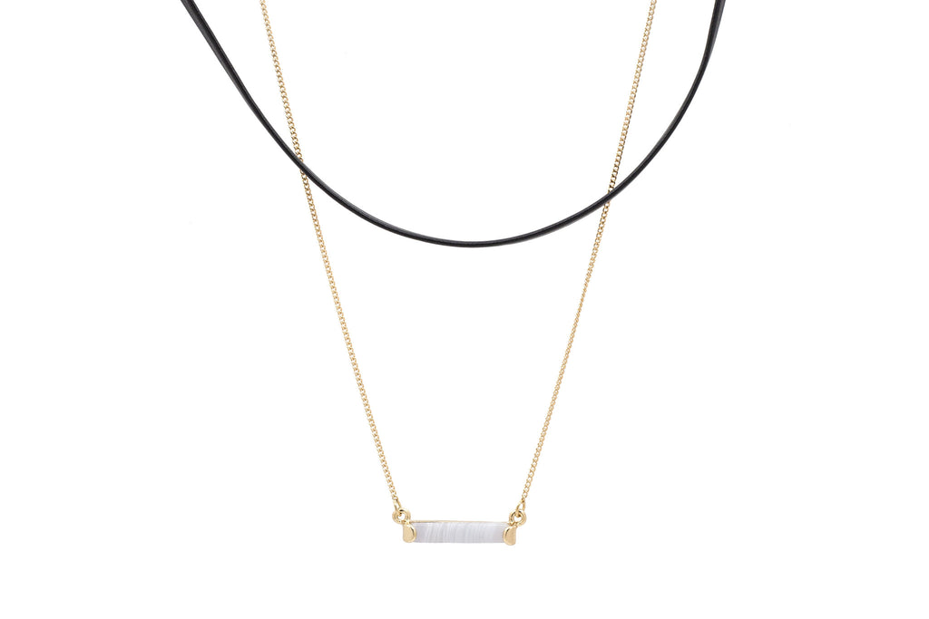 Joana Layered Choker + Pendant Set