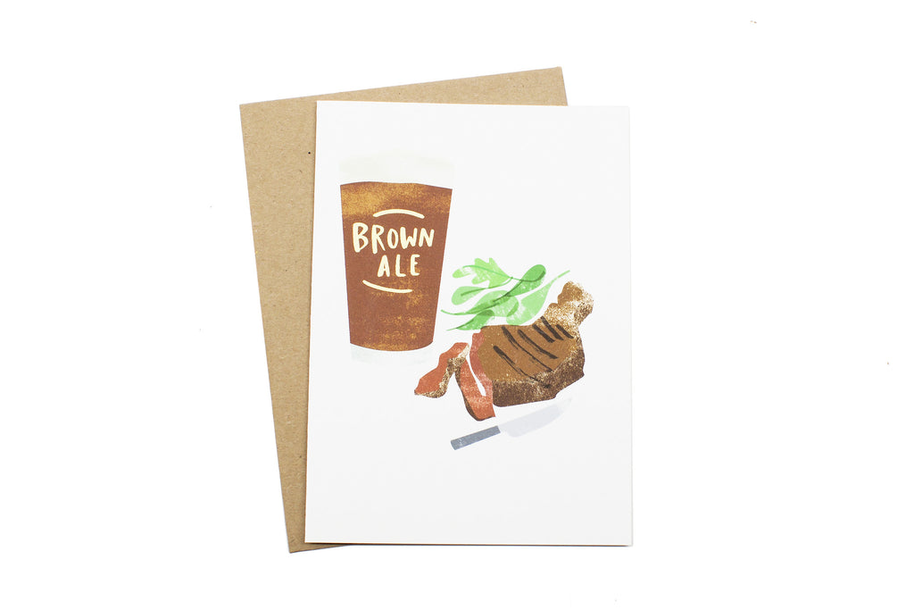 Brown Ale and Steak Card