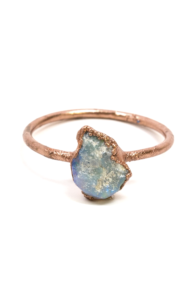 Small Raw Opal Ring