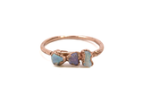 Raw Opal Tri-Stone Stacking Ring