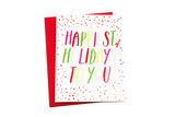 Happiest of Holidays Card