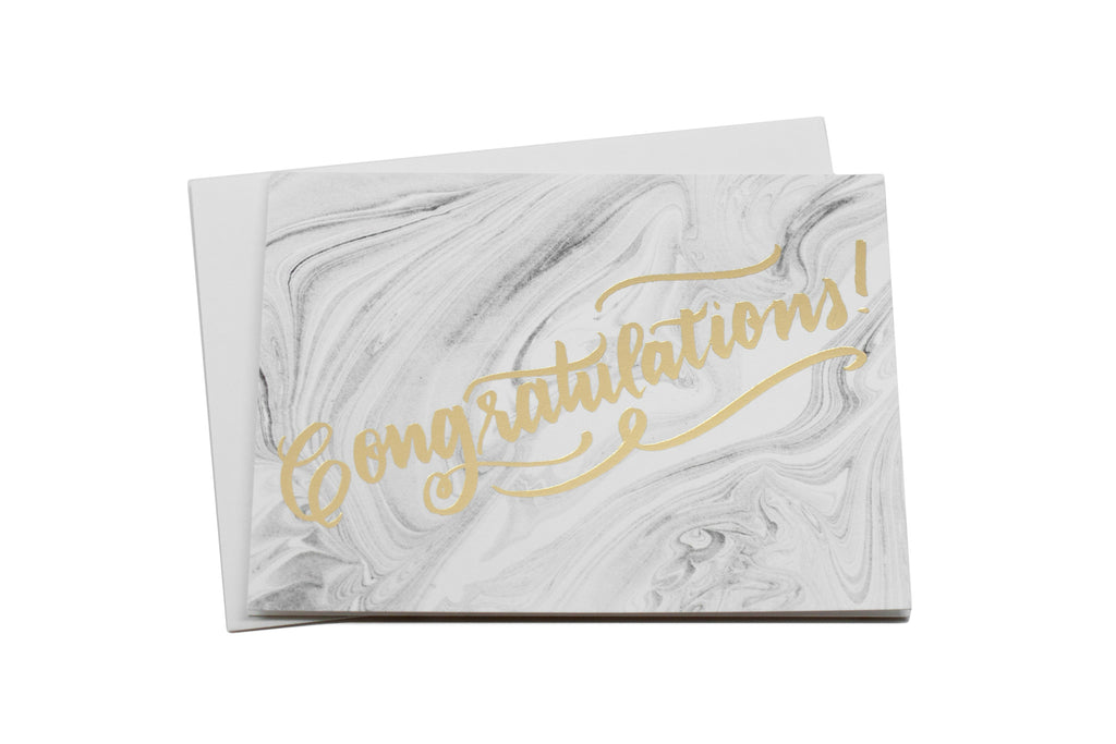 Congrats Marbled Card