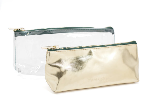 Two in One Metallic Pouch