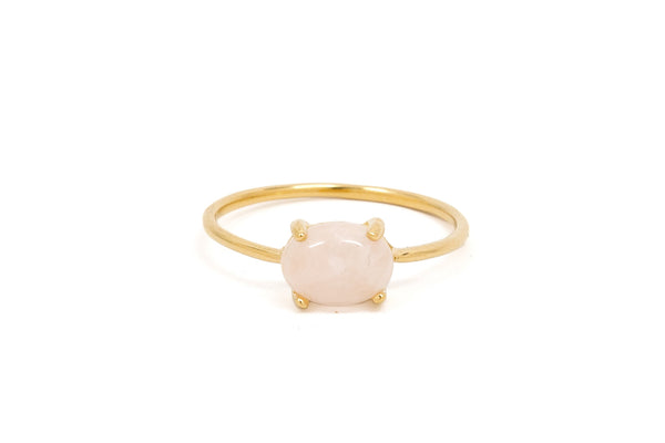 Rose Quartz Solo Claw Ring