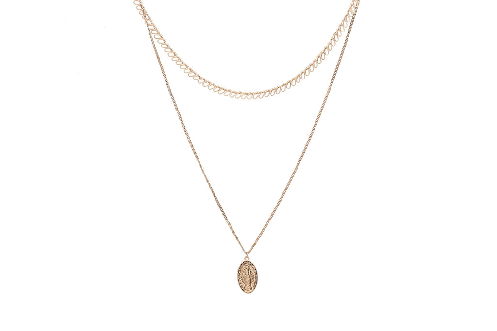 Layered Icon Necklace Set