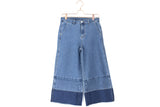 Gradient Denim Culottes