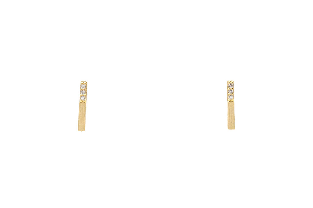 Jeweled Bar Studs