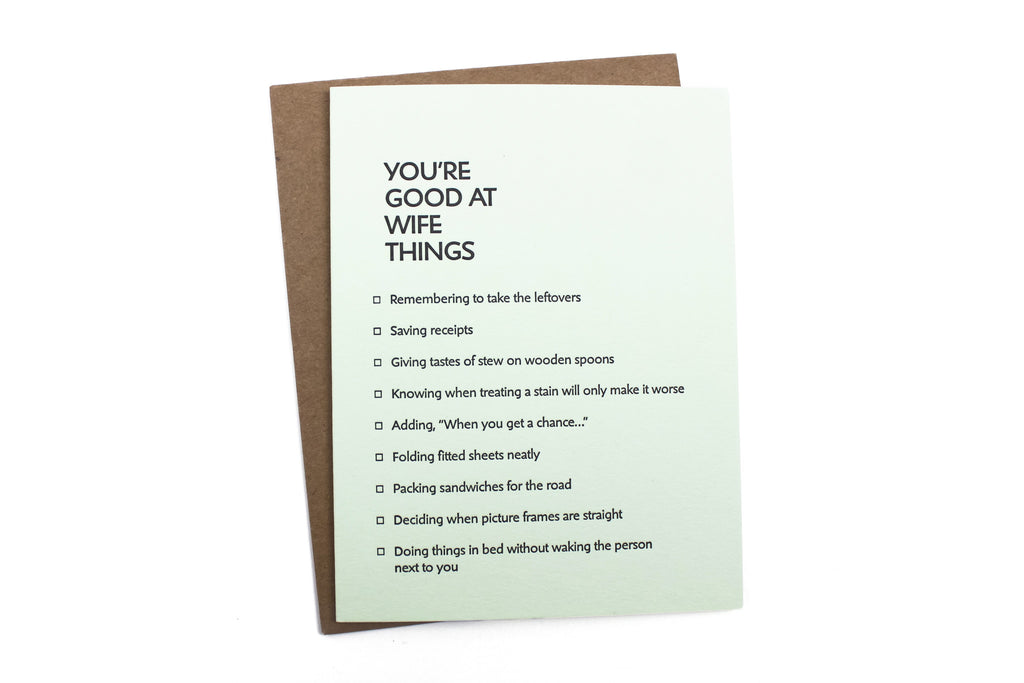 Wife Things Card