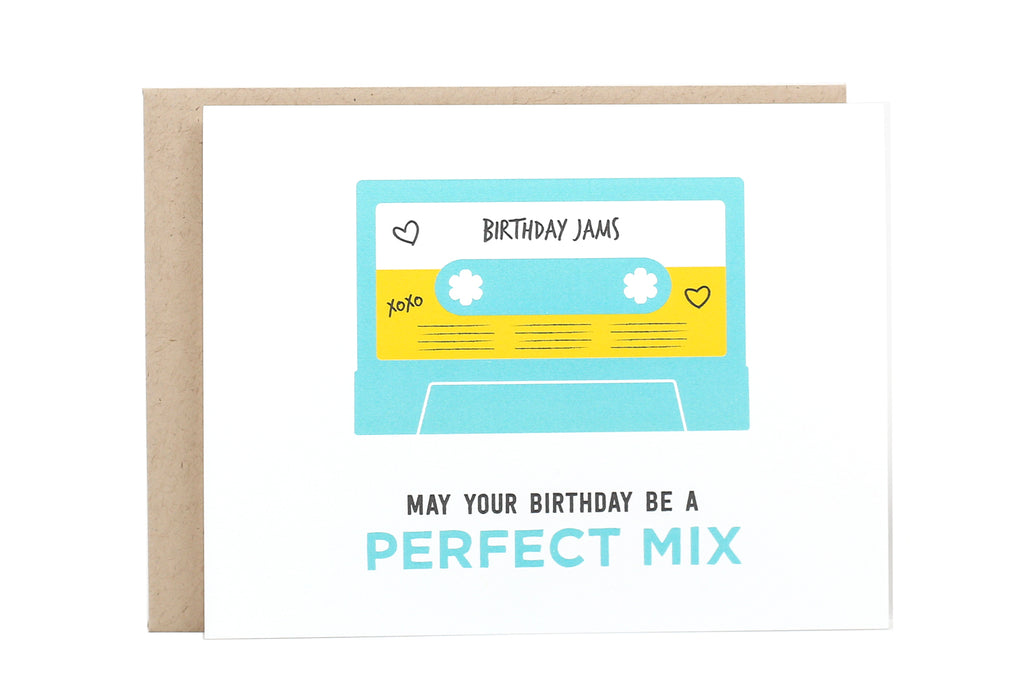 Birthday Mixtape Card