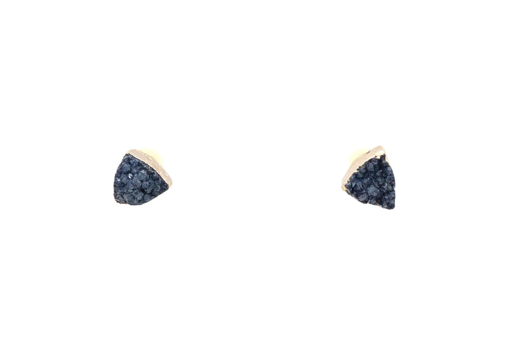Gold Dipped Druzy Studs