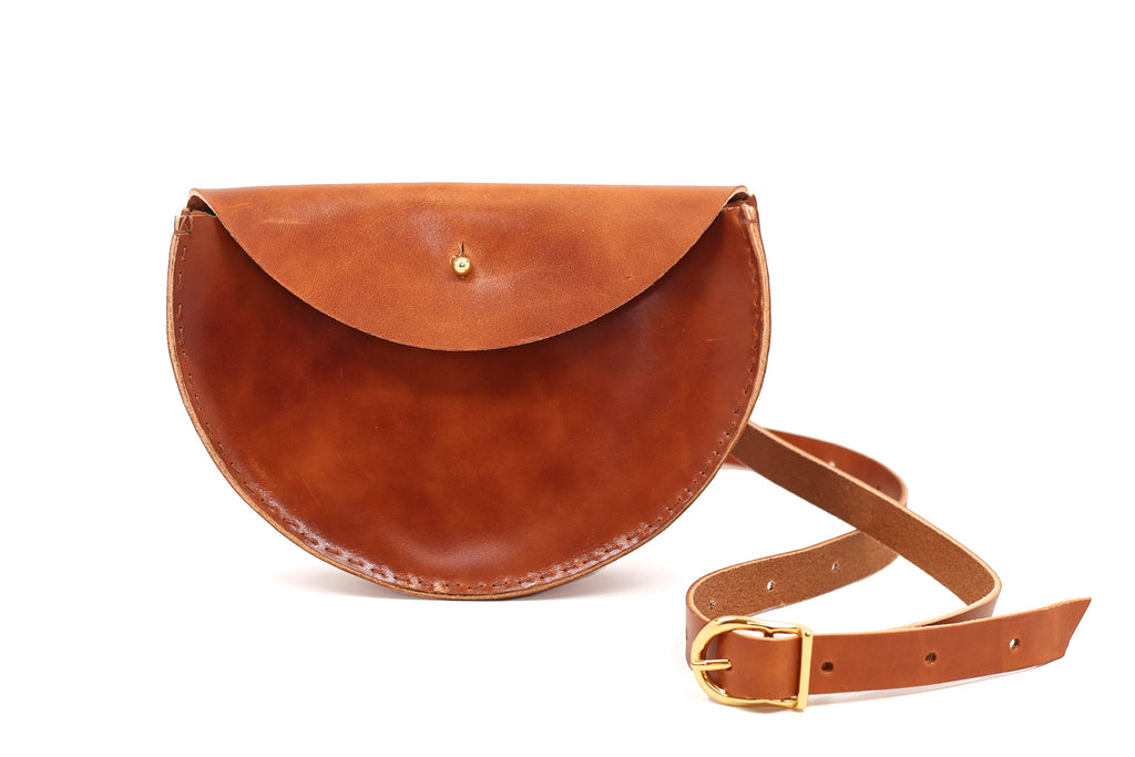 Extended Half Moon Crossbody Bag