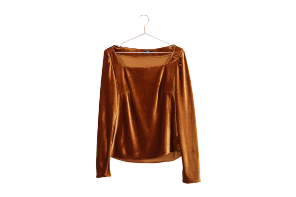 Velour Long Sleeve Top