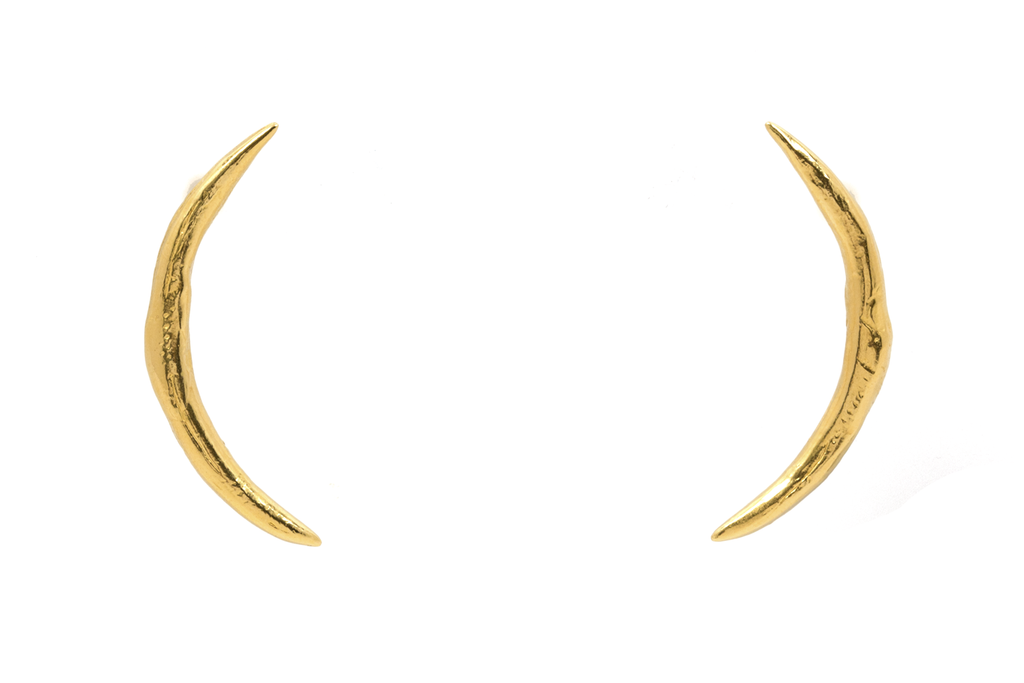 Crescent Scale Earrings