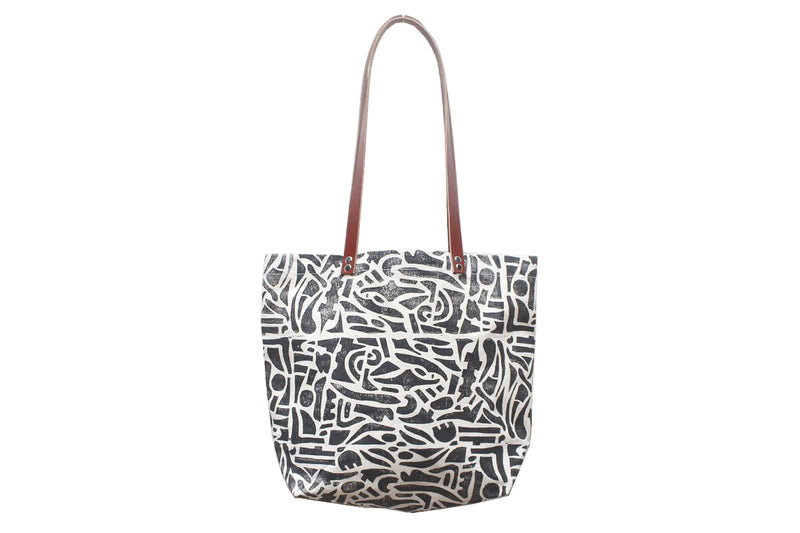 Little Shapes Block Print Tote