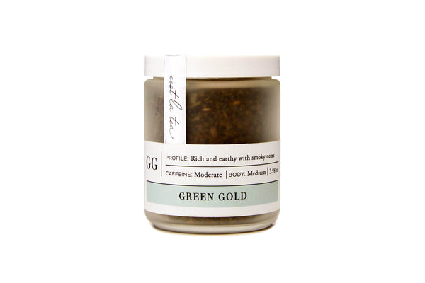 Green Gold Tea Jar