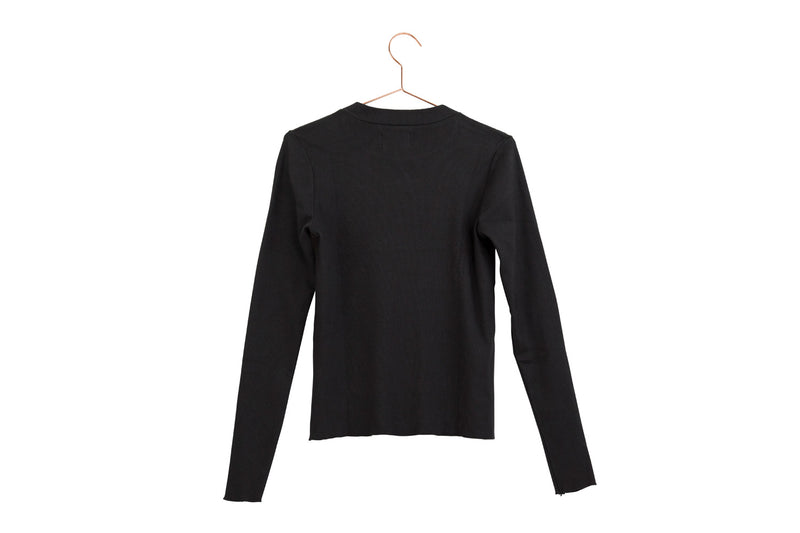 Mock Neck Rib Long Sleeve